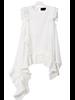 Sleeveless Irregular White Top