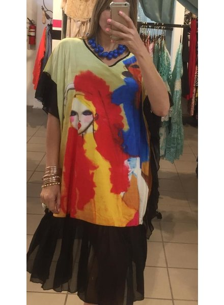 Plus Size Mesh MIDI Dress