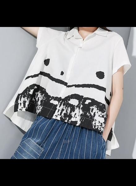One Size Cotton Linen Shirt