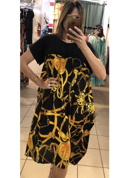Abstract Chain Dress one size