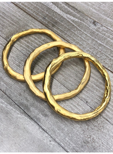 Matte Gold Solid Brass Bangle
