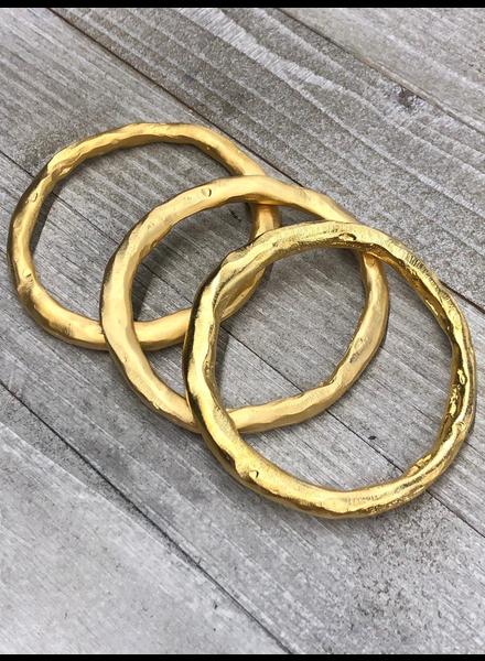 Matte Solid Brass Bangle