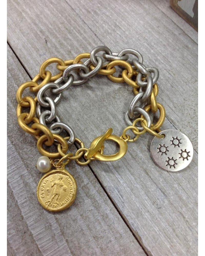 2 chain bracelet