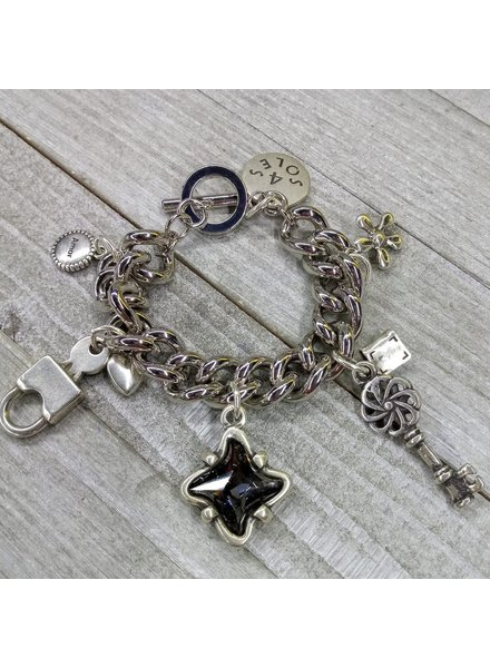 Charms Brazalet with crystal