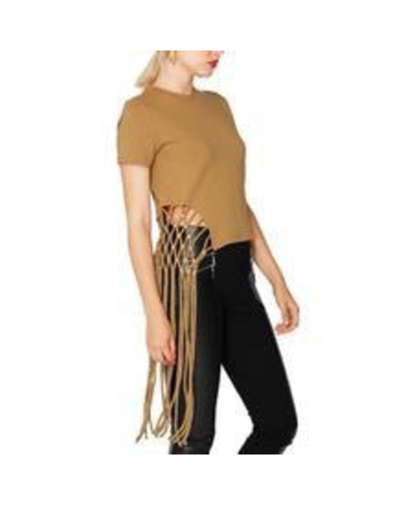 side unbalanced long fringe