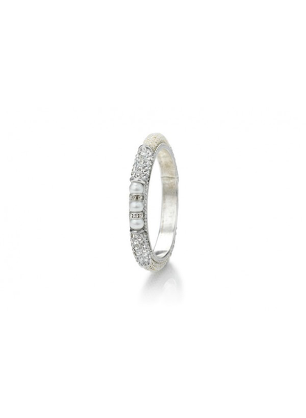 Pearl Bangle Silver