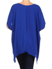 solid color, hi-low, asymetric blouse with an oversize fit, brown, One size