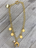 Horn/coins Necklace