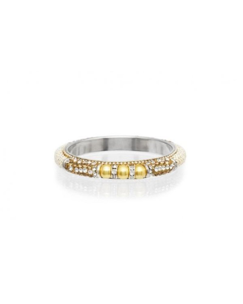 Pearl Bangle Silver and gold