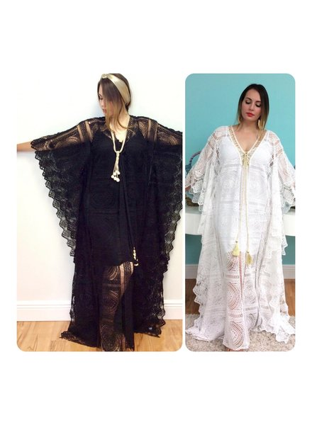 Lace Kaftan Dress