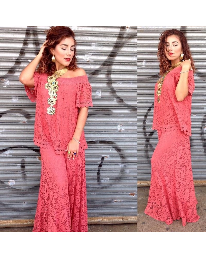 Lace Set Pant and Blouse