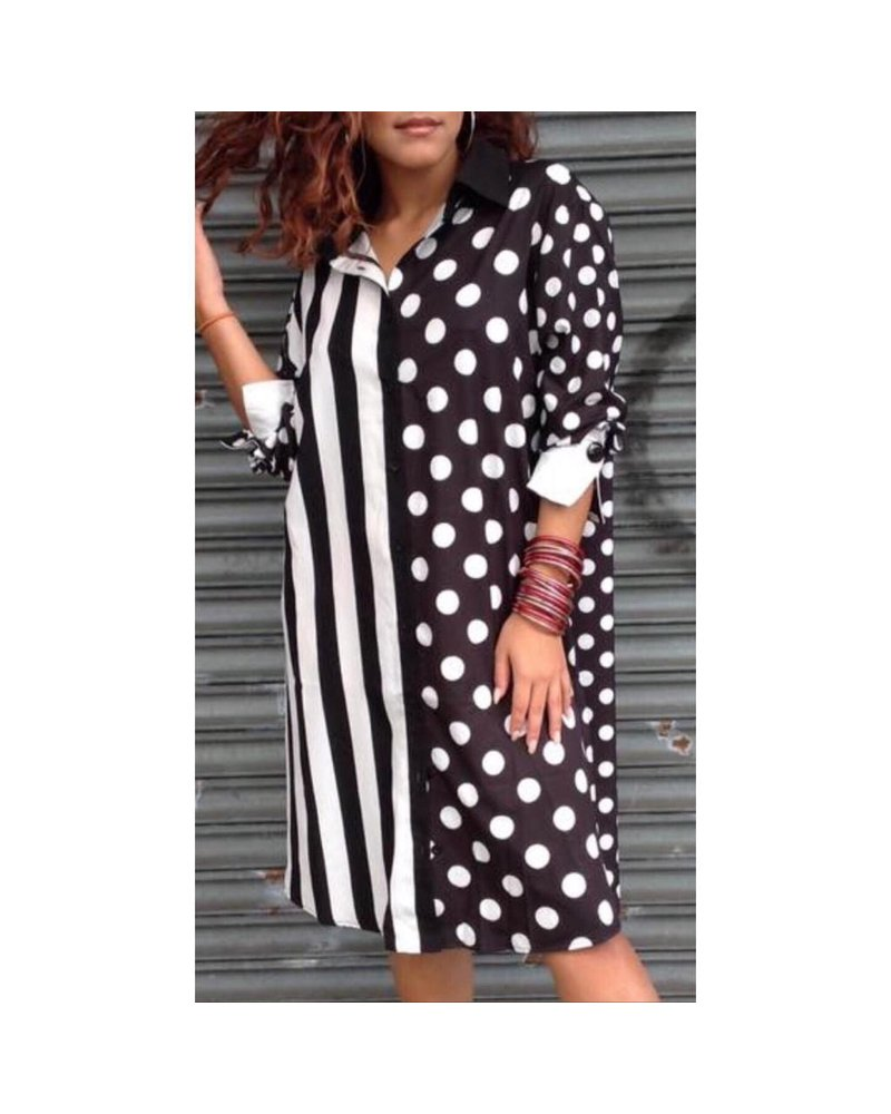 polka dots one size dress