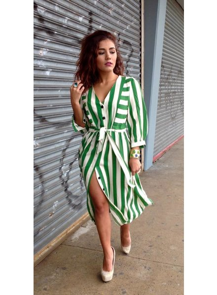 Stripe line Green Dress