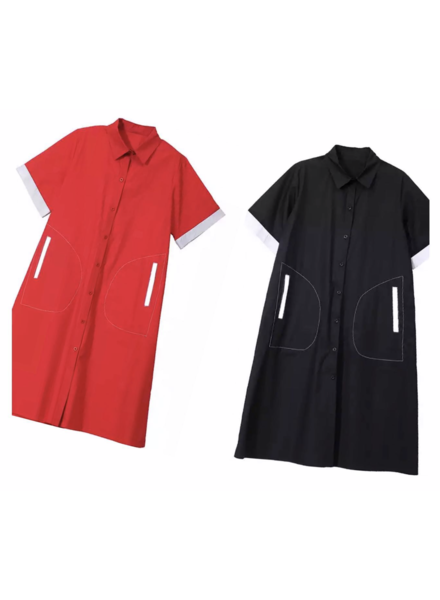 Red or Black dress with pockets