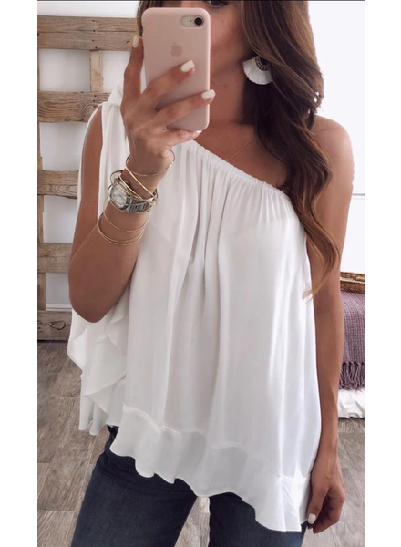 One Shoulder Top one size
