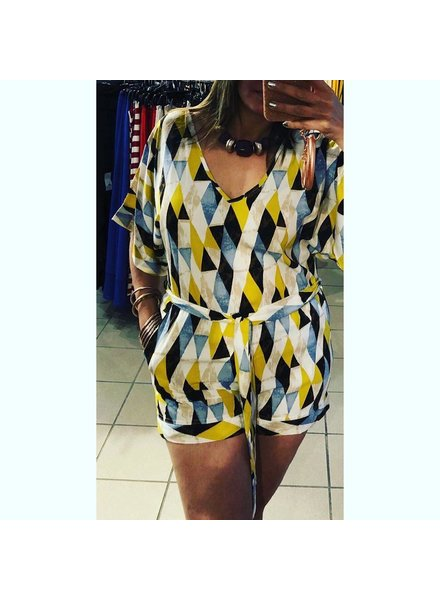 Diamond Pocket Romper