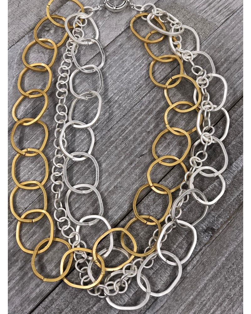 Multi Chain Gold plated