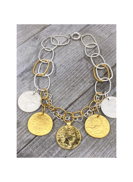 Coins Necklace 4 Soles 19""