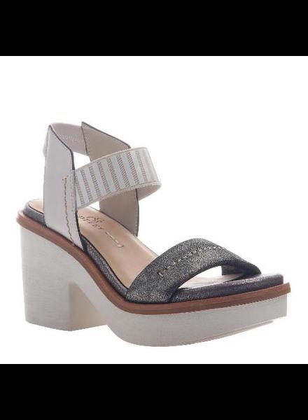 Grey Silver Platform Sandals