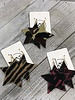 Star Leather Earrings