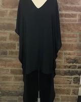 hi low poncho dress w/linning 100% polyester