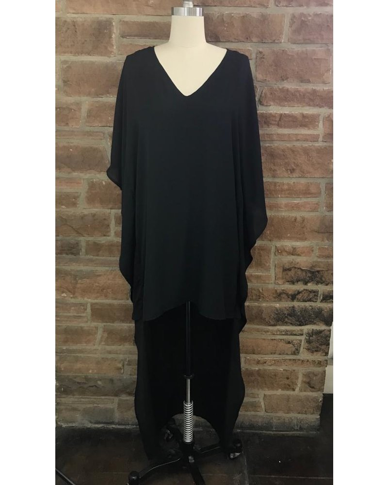 hi low poncho dress w/linning 100% polyester
