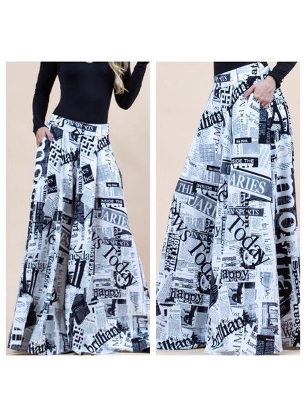 wide leg pants 100% polyester