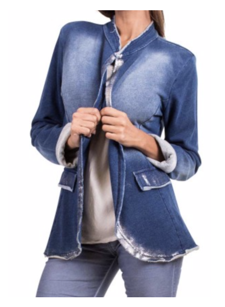 SILVER ACCENTS DENIM JACKET<br /> one size