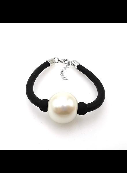 Pearl Rubber Brazelet