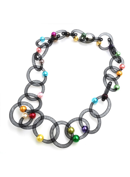 Color Pearl Long Necklace