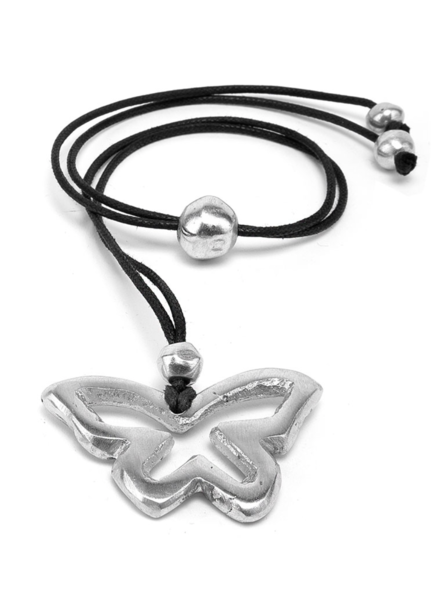 100% recycled aluminium. nickel tested jewelry.BUTTERFLY A TROU