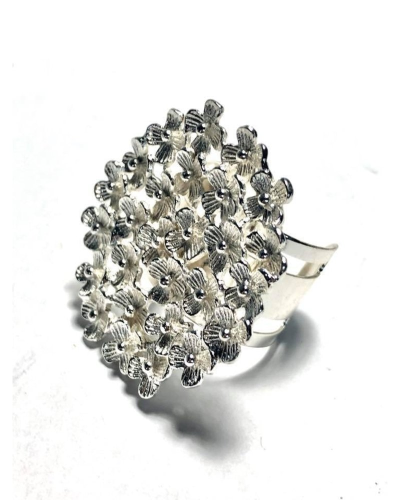 Ajustable mini Flowers Ring