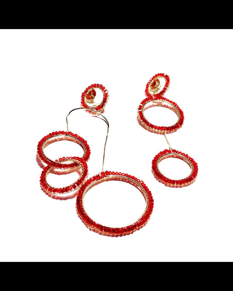 Irregular Wire earrings