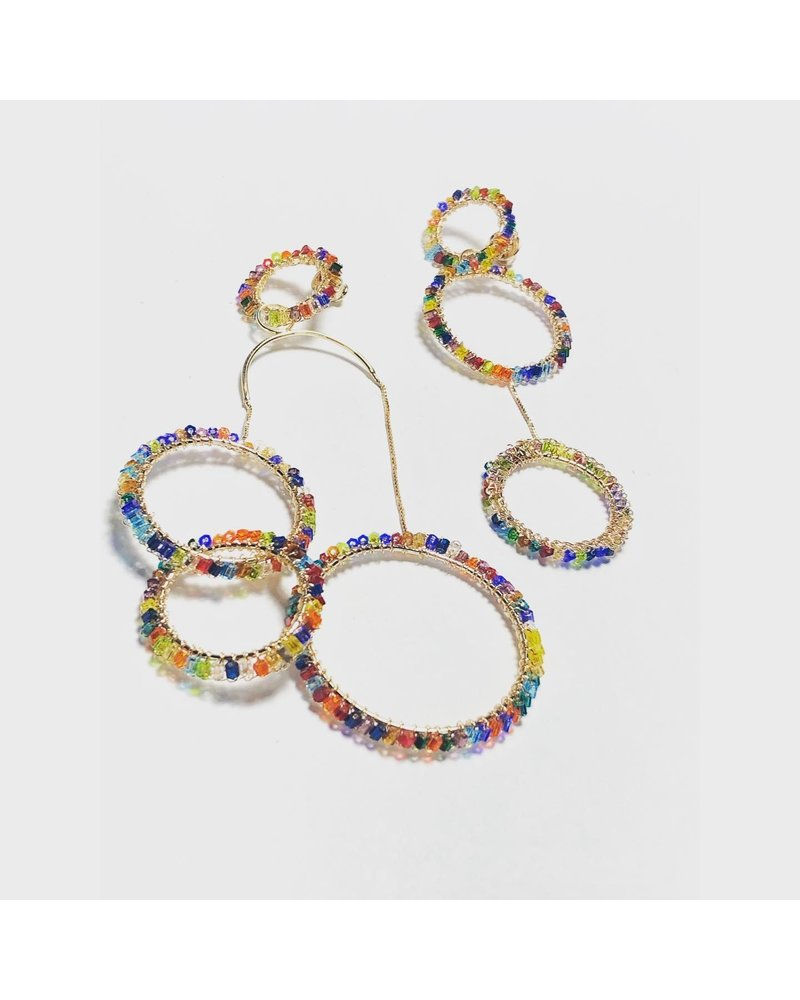 Irregular Wire earrings