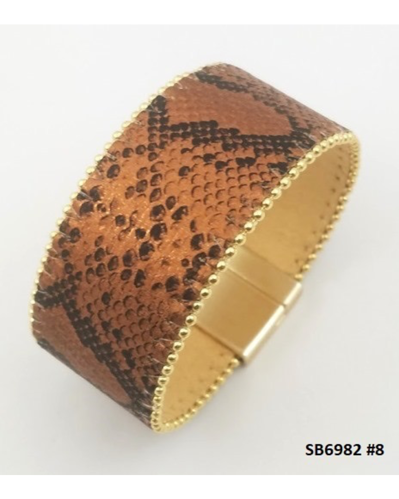 Metallic Animal Print Bracelet