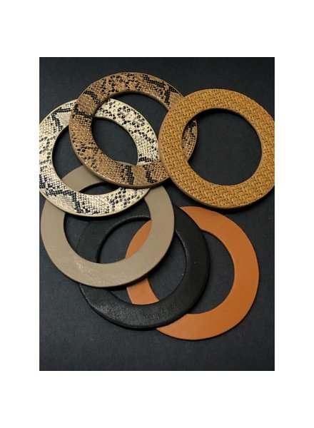 Flat Leather Bangle