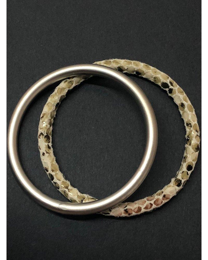 snake skin brazalet/ matte Ring