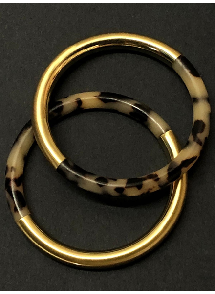 animal print/matte Gold bangle