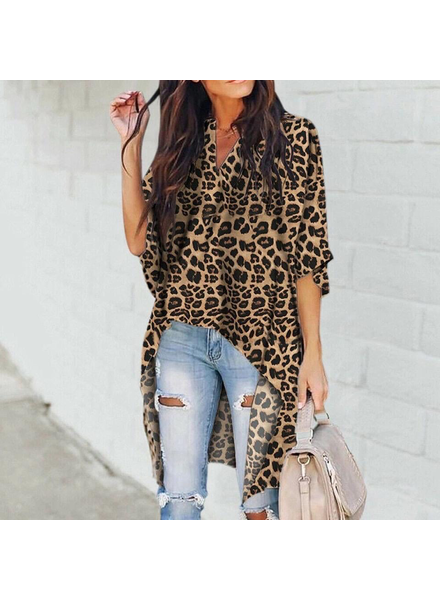 Hi Low Animal Print Tunic