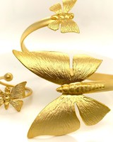 Set Butterfly rind and bracelet