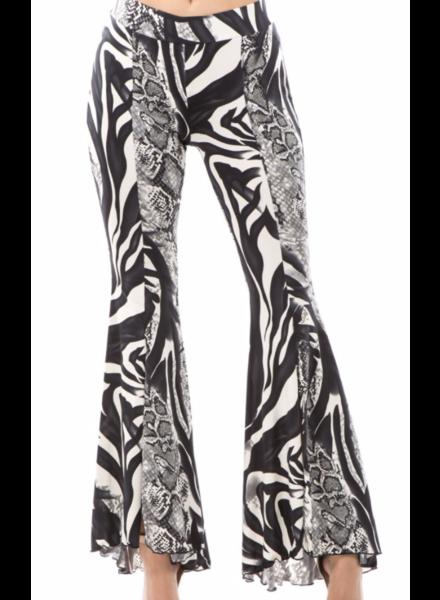 slit front flare pants