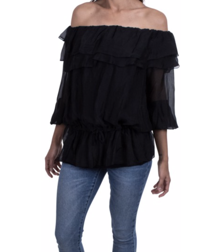 Off shoulder with long sleeve <br /> one size