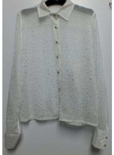 White Rhinestone Top
