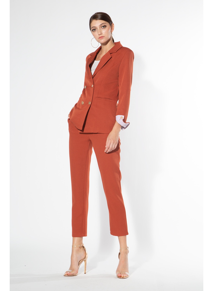 SET<br /> Jacket- Notch collar jacket with double breasted front