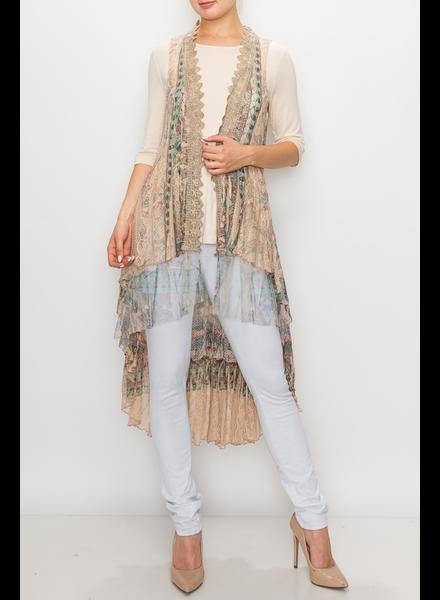Long Lace Vest