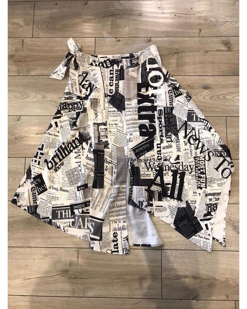 Newspaper Skirt