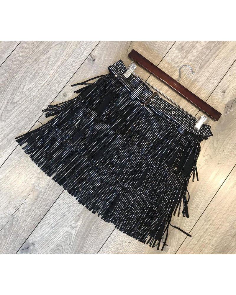 skirt with rainstone