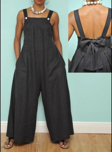 Scarlet Linen Jumpsuit