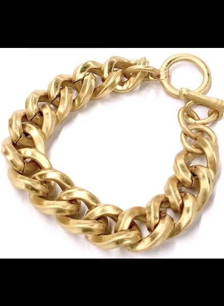 Mate Gold Plated Bracelet