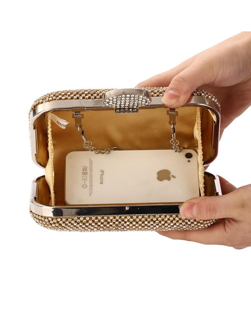 Female bag with diamonds